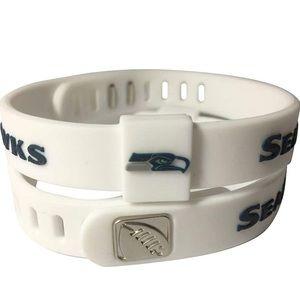 2 pc, Seahawks NFL Football Bracelets Wristbands